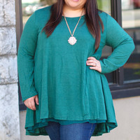 Double Trouble Layered Tunic in Green {Curvy}