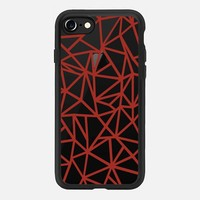 Abstraction Dense Red Transparent iPhone 7 Case by Project M   Casetify