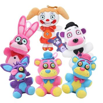 NEW  at  Sister Location Bonnet Bonnie Funtime Freddy Foxy  plush Toys Pendants Keychains figure Dolls