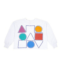 Vintage Shapes Cropped Long-Sleeve Shirt