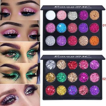 Diamond Shimmer Glitter Matte Eyeshadow Pallete Cosmetics Loose Powder Nude Eye Shadow Palette Makeup Pigments