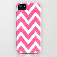 pink chevron iPhone & iPod Case by Her Art