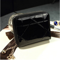 Mini Leather Wallet ID Credit Cards Holder Organizer Purse