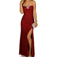 Cadence- Red Long Dress