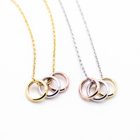 Multi rings necklace