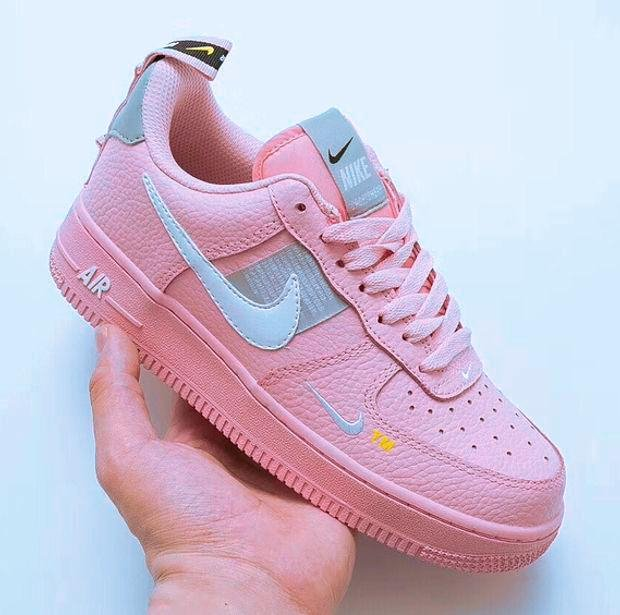 Image of Nike Air Force 1 Classic Women Flat Sport Running Shoes Sneakers Pink