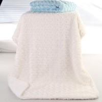Baby Blanket Girl Boy Rose 2 Layers Super Soft Children Throws Solid For Newborn Coral Fleece Kids Month Blankets Infant Textile