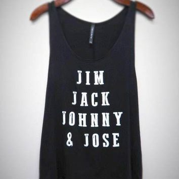 Jim Jack Johnny and Jose Whiskey Tank Top