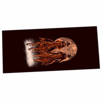 "BarmalisiRTB ""Come At Night"" Brown Orange Desk Mat"
