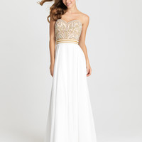 Madison James 16-364 Beaded Fit and Flow Prom Dress Evening Gown