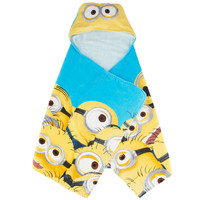 Despicable Me Mega Minions Hooded Towel - Yellow/Blue