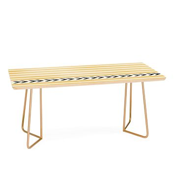 Allyson Johnson Yellow Stripes And Arrows Coffee Table