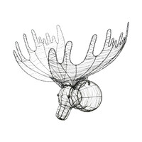 Wire Moose Wall Décor