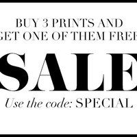 Sale, buy 3 get one free, 3-for-2 on ANY PHYSICAL Print Designs, poster, typography, wall decor, sale prints, home decor, inspirational