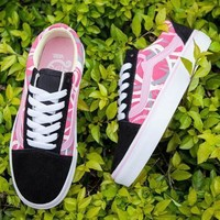 VANS Old Skool Print Canvas Flats Shoes Sneakers Sport Shoes