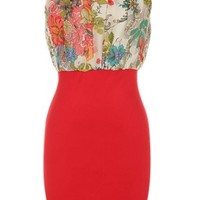 The Red Floral Dress