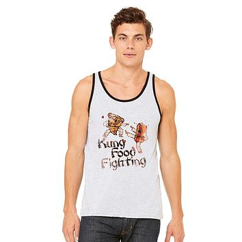 Zexpa Apparel™ Kung Food Fighting Pizzas Kung Fu Men's Jersey Tank Funny Sleeveless