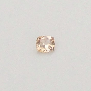 Cushion Champagne Peach Sapphire 1.92ct for 14k Rose Gold or White Gold Engagement Ring Weddings Anniversary