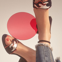 Sandals With Cut-Out Flames