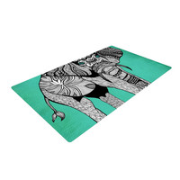"""Pom Graphic Design """"Elephant of Namibia Color"""" Woven Area Rug"""