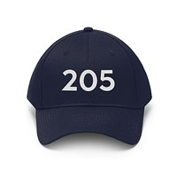 Alabama 205 Area Code Embroidered Twill Hat
