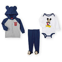 Disney Baby Boys 3 Piece Navy Mickey Mouse