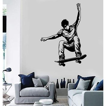 Wall Stickers Vinyl Decal Skate Skateboarding Youth Teen Urban Decor Unique Gift (z2367)