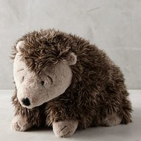Fuzzy Hedgehog Stuffed Animal by Anthropologie in Taupe Size: One Size House & Home