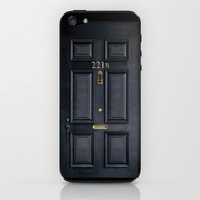 Classic Old sherlock holmes 221b door iPhone 4 4s 5 5c, ipod, ipad, tshirt, mugs and pillow case iPhone & iPod Skin by Three Second
