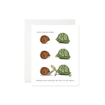 Out of My Shell Love Greeting Card [Good Juju Ink]