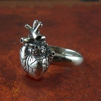 Anatomical Heart Ring by Lost Apostle