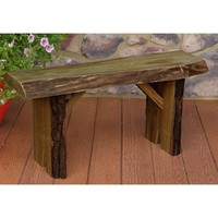 Bruggeman Live Edge Solid Wood Garden Bench