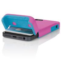 The Pink / Blue Incipio STASHBACK™ Dockable Credit Card Case for iPhone 5-5s