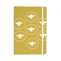 """Jennifer Rizzo """"Busy As A Bee Maise Gold"""" White Nature Everything Notebook"""
