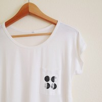 Tracey Four Moons White Pocket Tee