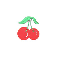 Cherry Applique Embroidered Patch/ Iron on Patch