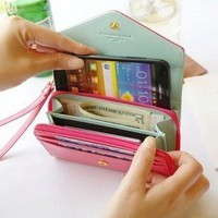 Mobile phone bag purse change purse Wallet With Card Pocket