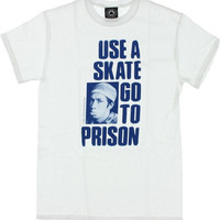 Thrasher Use A Skate Tee Large White/Blue