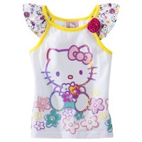 Hello Kitty Infant Toddler Girls' Tank Top - White