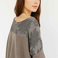 Sloane Rogue Short-Sleeve Dye-Tech Top- Grey