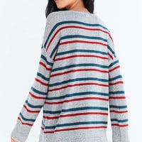 BDG Stripe Oversized Pullover Sweater - Urban Outfitters