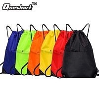 Waterproof Zipper Gym Sport Fitness Bag Foldable Backpack Drawstring Shopping Pocket Hiking Camping Pouch Beach Swimming Bag
