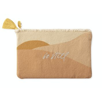 Be Still Small Canvas Pouch