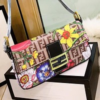 FENDI Fashion Retro Women Shopping Bag Canvas Satchel Crossbody Shoulder Bag