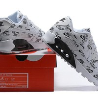 NIKE AIR MAX 90 white/black size 36-46