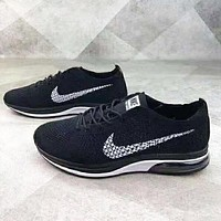 NIKE Air Zoom Mariah Flyknit Racer New fashion hook sports leisure couple shoes Black