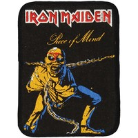 Iron Maiden Men's Piece Of Mind 1 Screen Printed Patch Black