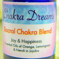 Color Energy Aromatherapy- Orange SACRAL CHAKRA Color Therapy-Essential Oil Blend