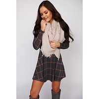 Say Anything Triangle Scarf (Blush)