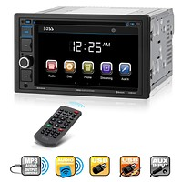 Boss Audio Systems BV9364B Car Stereo DVD Player - Double Din, Bluetooth Audio/Hands-Free Calling, 6.2 Inch Touchscreen LCD Monitor, MP3 Player, CD, DVD, USB Port, SD, AUX Input, AM/FM Radio Receiver Bluetooth Receiver